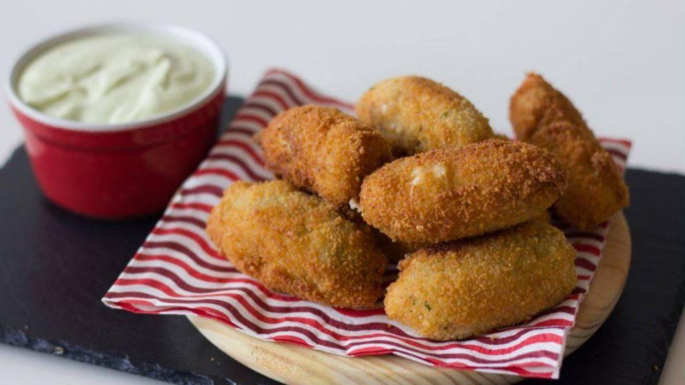 Croquetas de setas y queso emmental: crujientes y cremosas