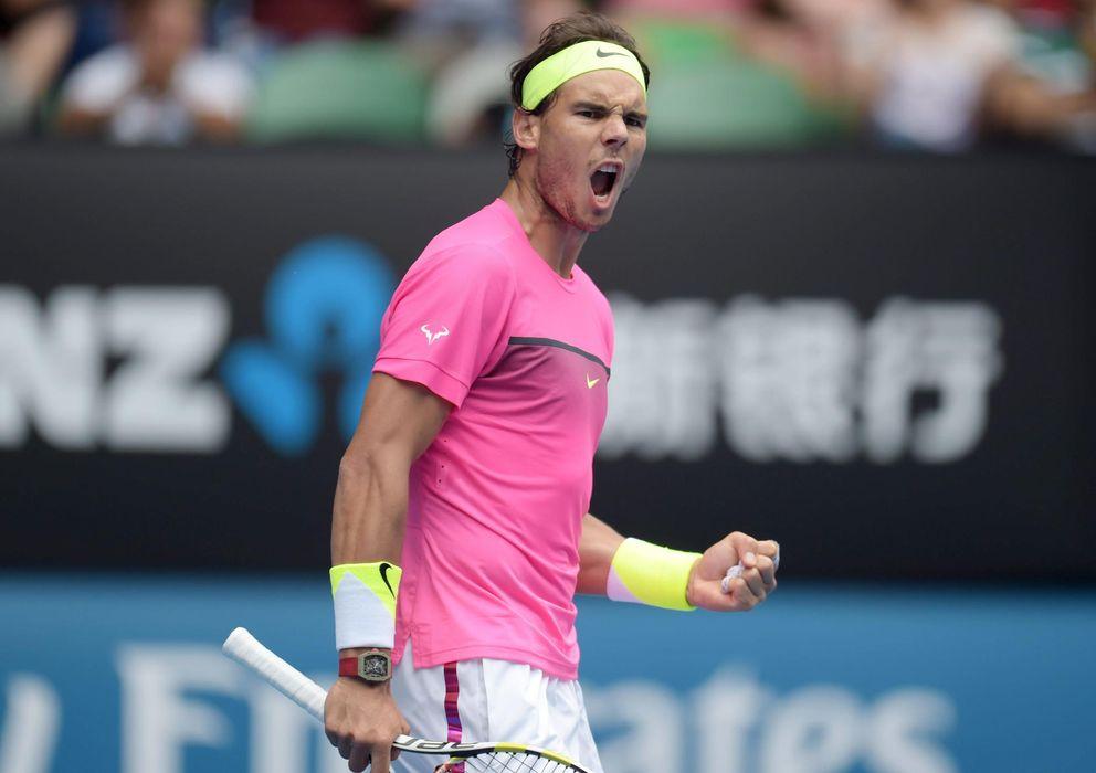 Foto: Rafa Nadal se mete a los cuartos de final del Open de Australia por la puerta grande.