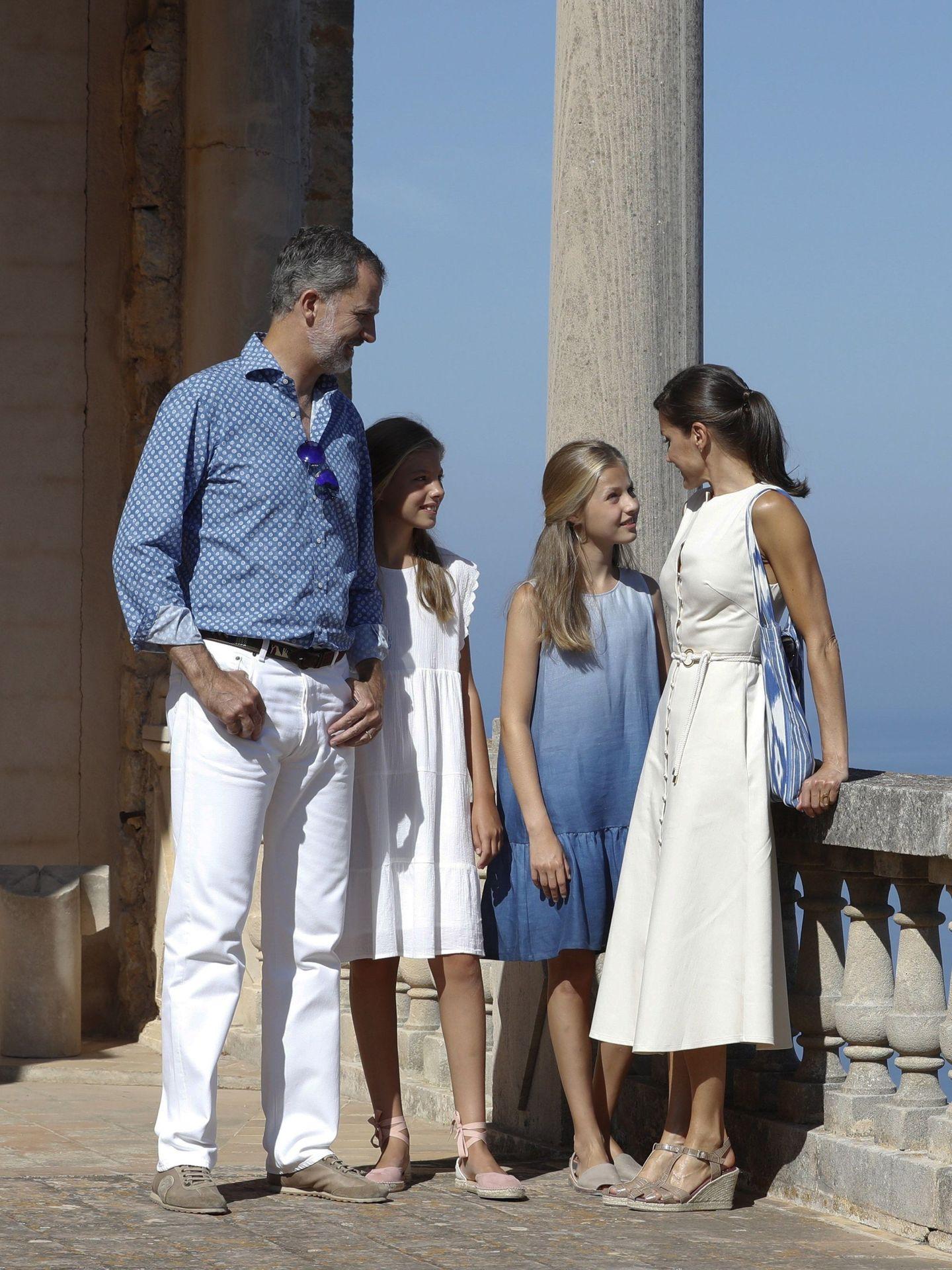 La familia real en Mallorca, durante su estancia de 2019. (EFE)