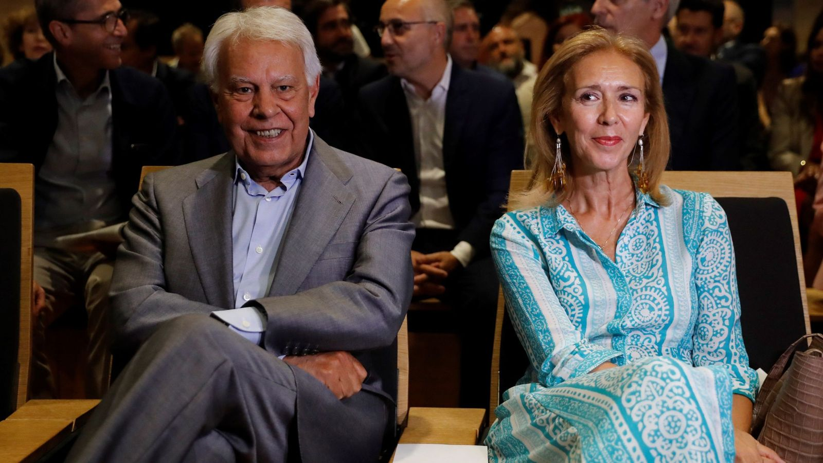 Foto: Felipe González y Mar García Vaquero, en un acto reciente. (EFE)