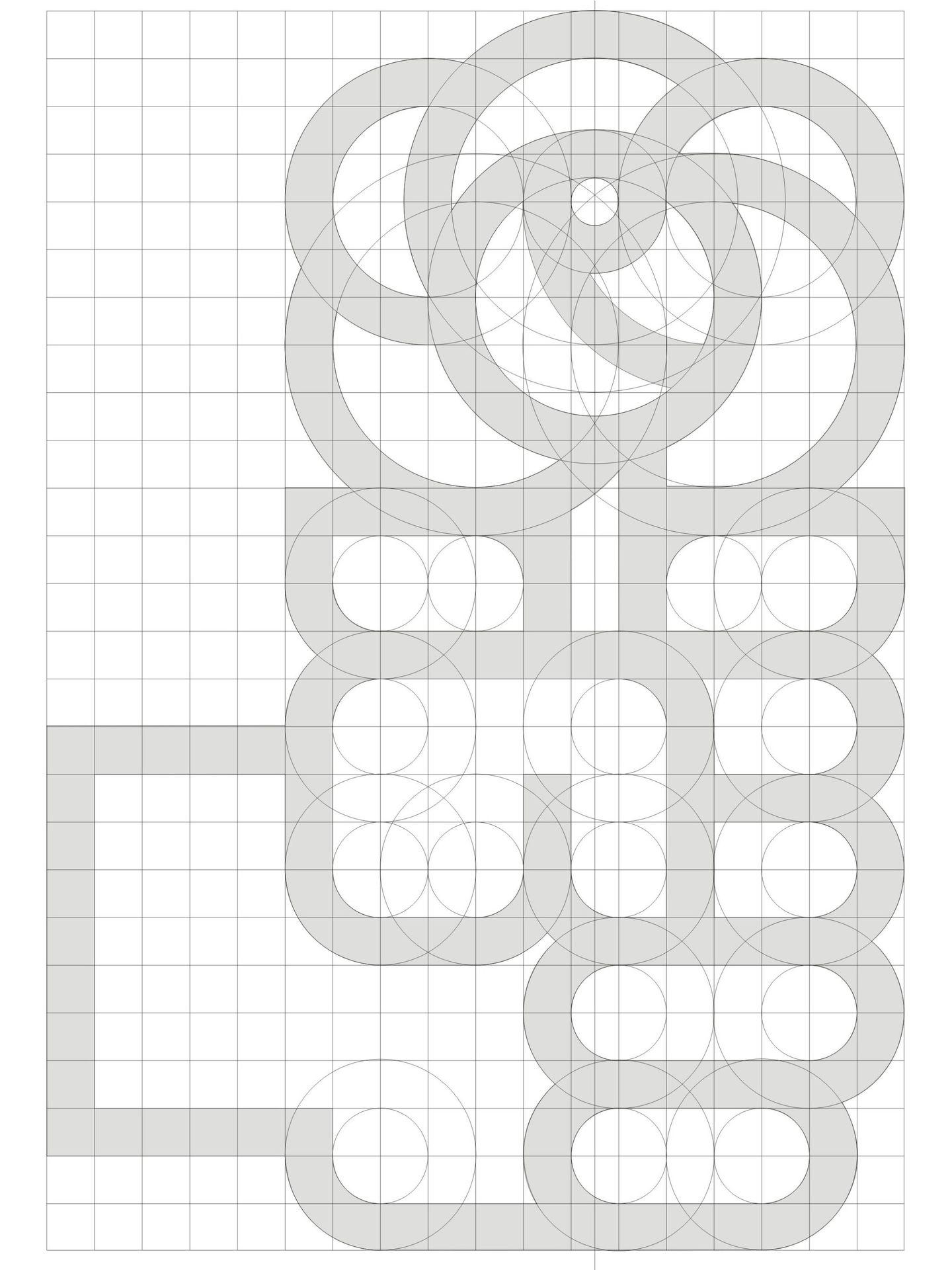 El logo del PSOE, en construcción. (Estudio Cruz más Cruz)