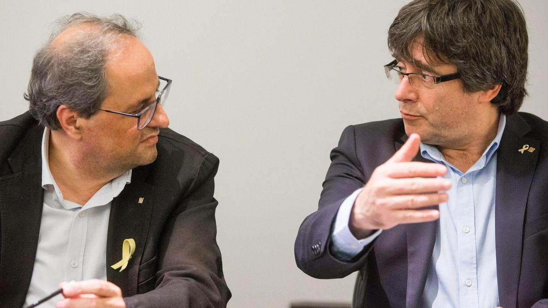 Foto: Puigdemont y Torra durante su encuentro en Bruselas (EFE)