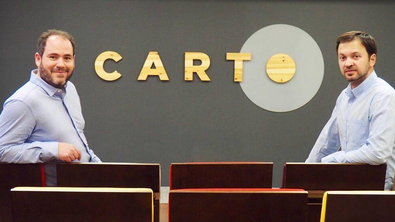 Foto: Javier de la Torre (izquierda), cofundador de Carto, junto a Luis Sanz, CEO.