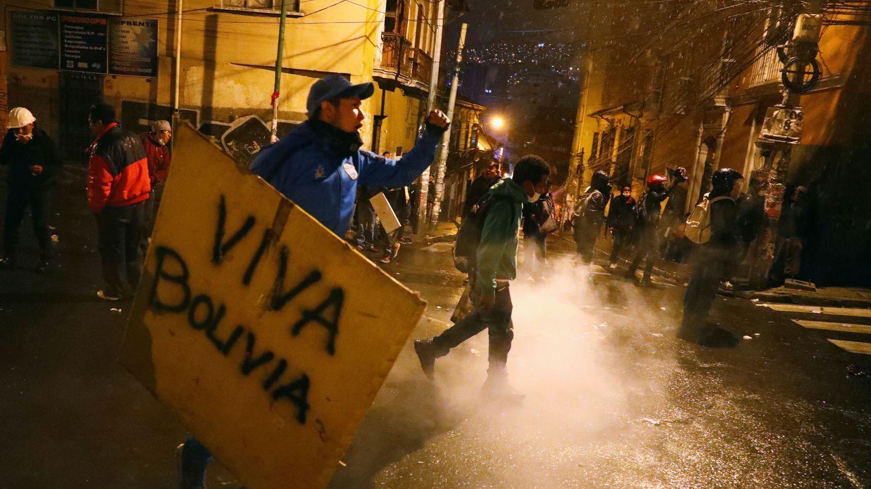 Protestas contra Evo Morales en La Paz. (Reuters)