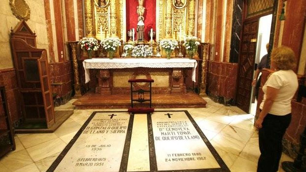 Foto: Tumba de Queipo de Llano en la Basílica de la Macarena. (EFE)