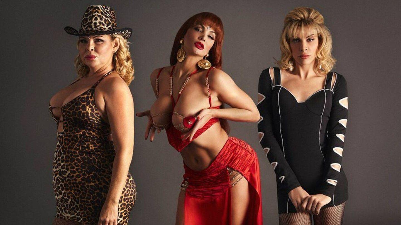 Las tres actrices encargadas de interpretar a Cristina Ortiz, La Veneno. (Atresmedia)