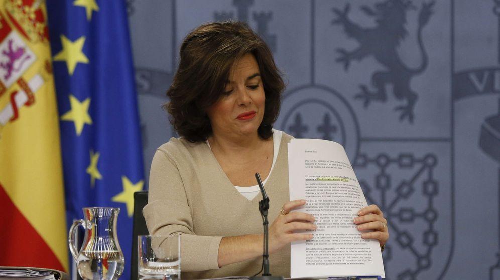 Foto: La vicepresidenta del Gobierno en funciones, Soraya Saénz de Santamaría. (EFE)
