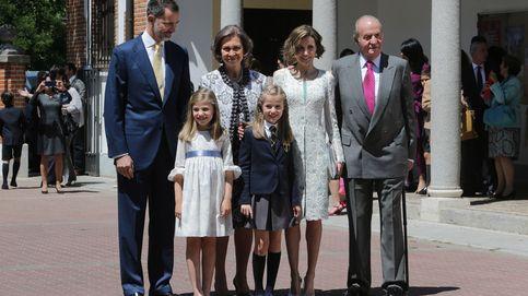 Toda la Familia Real, excepto las infantas, en la comunión de la Princesa