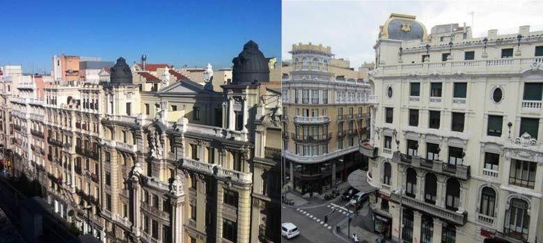 Foto: Gran Vía 3 (izda) y Gran Vía 18, (drcha).