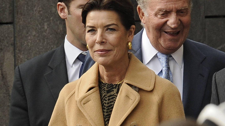 Carolina de Mónaco y el Rey emérito en una foto de archivo. (Gtres)