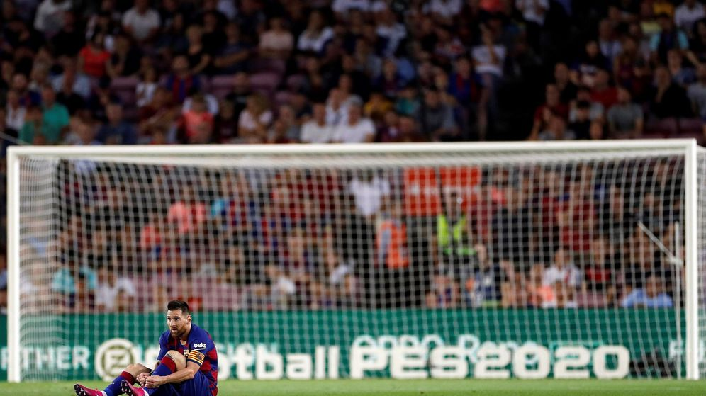Foto: Leo Messi se lesionó durante el Barcelona-Vilarreal. (EFE)