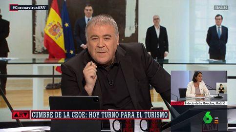 El chascarrillo de Ferreras tras el mensaje del presidente de Globalia