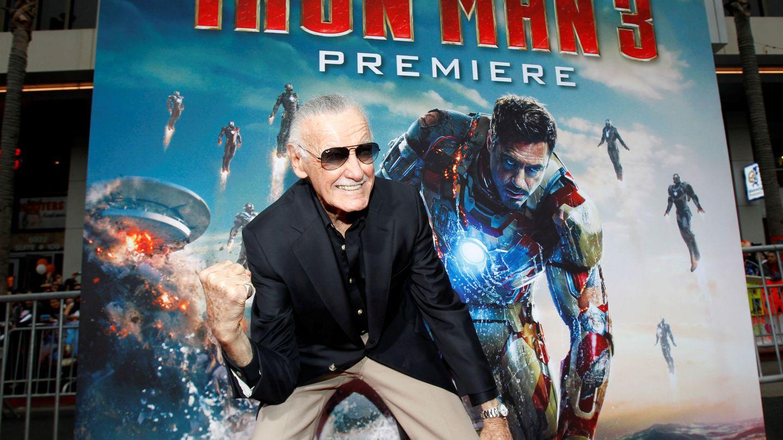 Stan Lee, en la 'premiere' de 'Iron Man 3' en 2013. (Reuters)