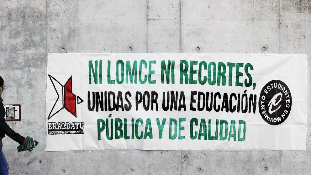 Huelga contra la LOMCE y los recortes en la educación pública