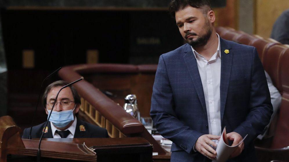 Foto: El portavoz de ERC, Gabriel Rufián (EFE)