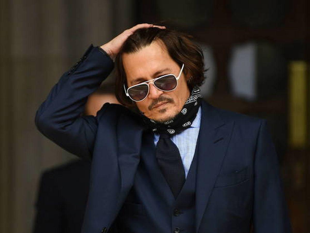 Foto:  Johnny Depp, durante el juicio en Londres. (EFE)