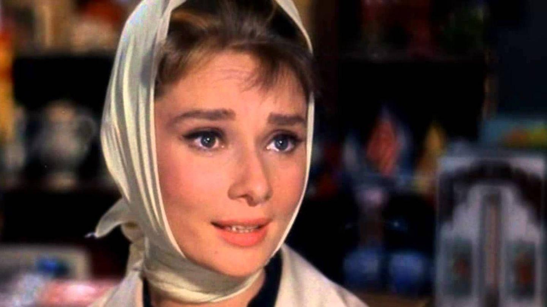 Audrey Hepburn, en una imagen de película.