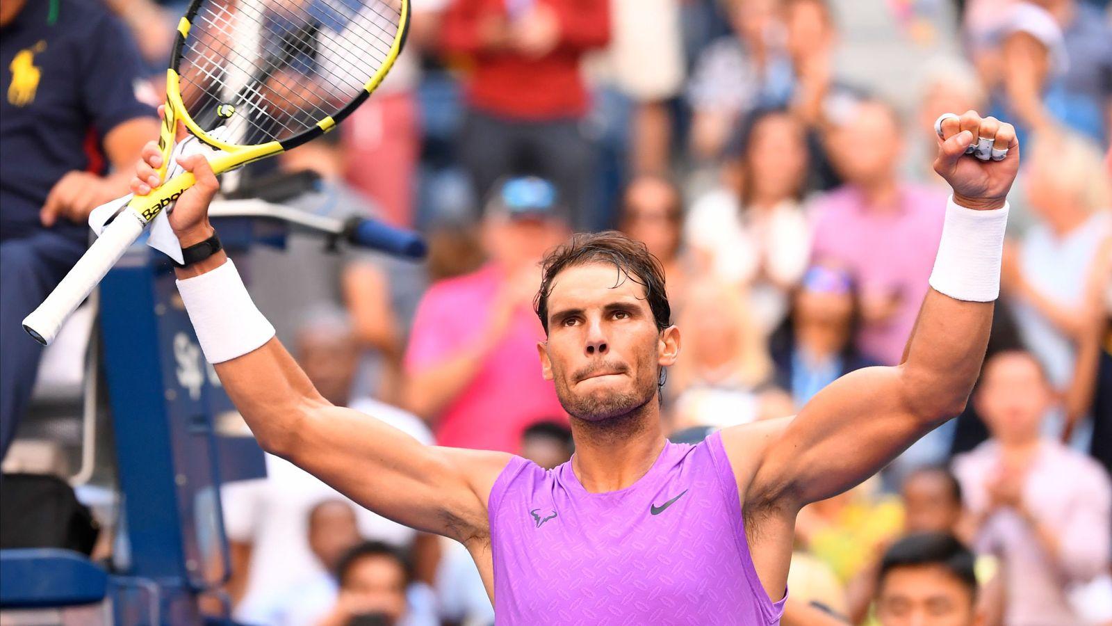 Foto: Rafa Nadal celebra su pase a octavos del US Open tras derrotar a Chung. (Reuters)