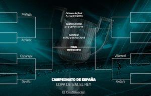 Villarreal, Athletic, Sevilla y Getafe alcanzan los cuartos de final de la Copa