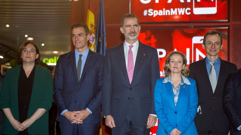 Foto: El Rey, Pedro Sánchez y Quim Torra inauguran el Mobile World Congress