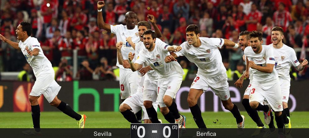 Los penaltis permiten que el Sevilla vuelva al cielo europeo a costa de un gafado Benfica