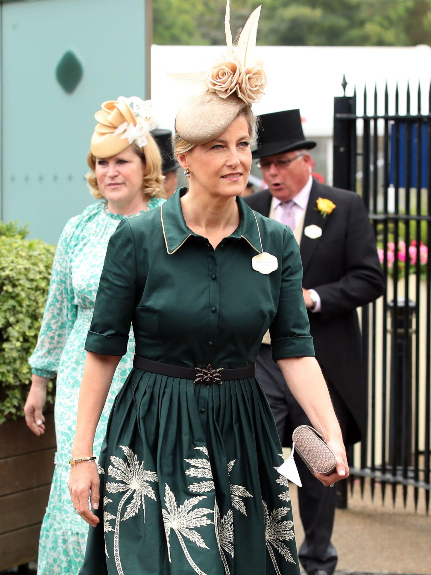 Sofía, condesa de Wessex, en el tercer día de Ascot. Reuters.
