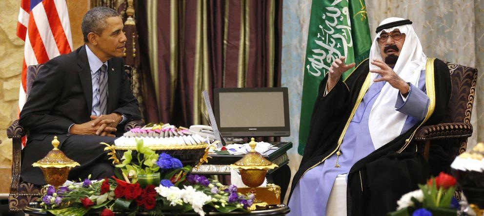 Foto: El presidente Obama con el fallecido Rey Abdullah (Reuters)