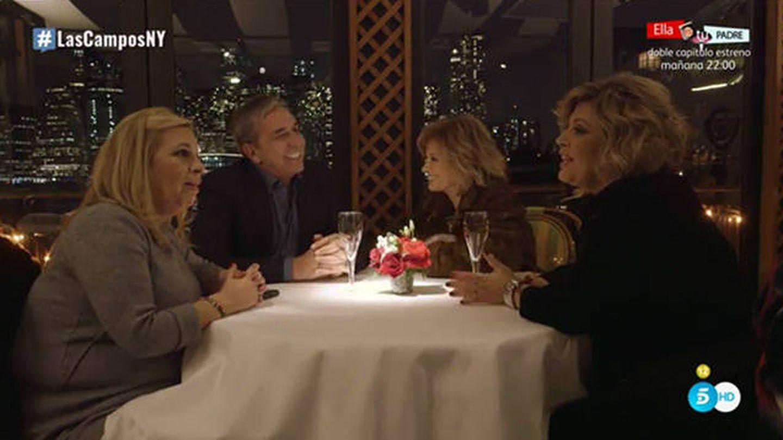 Las Campos cenan con el cirujano Enrique Monereo.