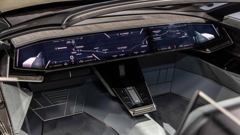 En modo autónomo el volante y los pedales desaparecen. (Audi)