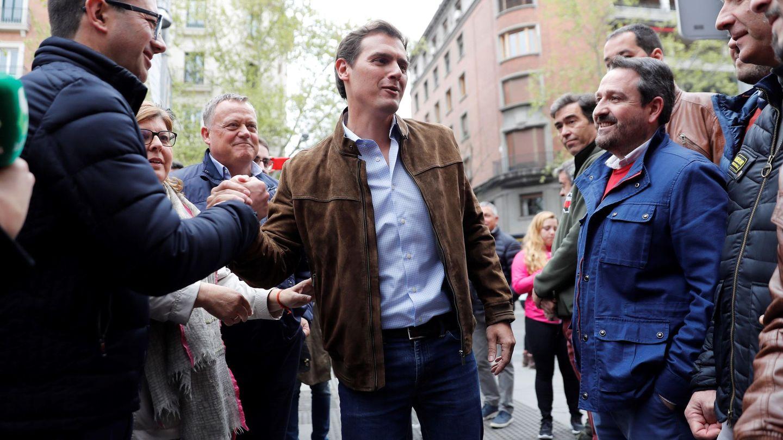 Albert Rivera a su llegada a la marcha. (EFE)