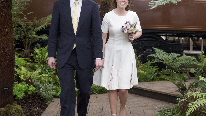 Con su prometido, Jack Brooksbank. (Cordon Press)