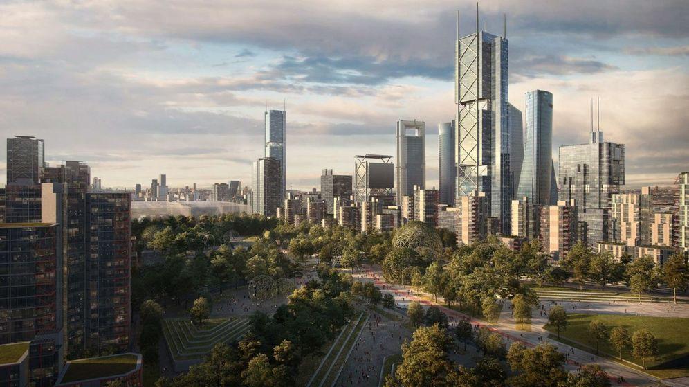 Foto: Recreación virtual de una de las zonas del proyecto urbanístico Madrid Nuevo Norte.