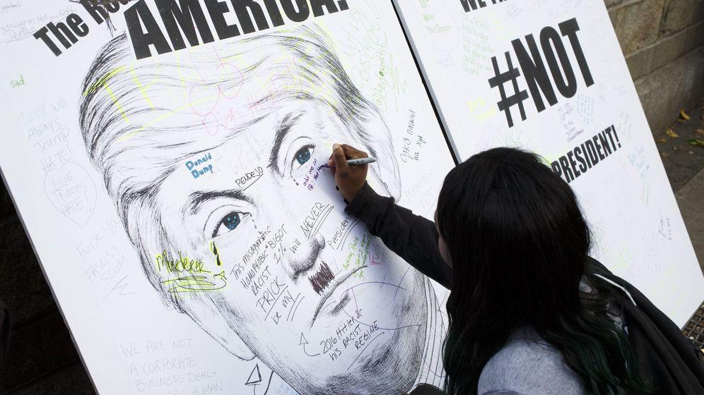 Foto: Protesta contra el presidente electo estadounidense, Donald Trump. (EFE)