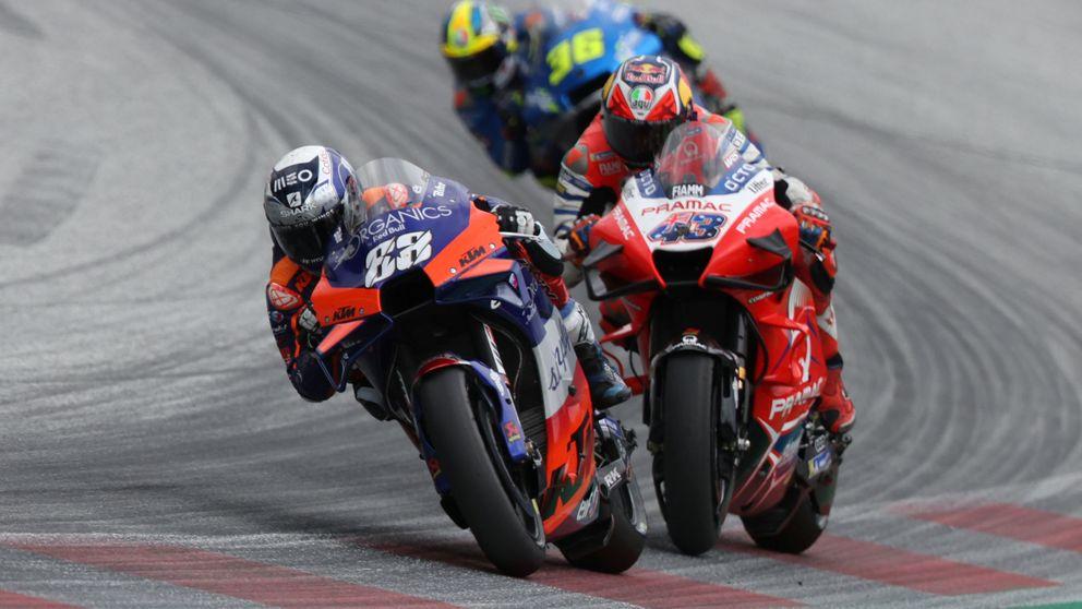 Pol Espargaró y Jack Miller regalan a Miguel Oliveira su primera victoria en MotoGP