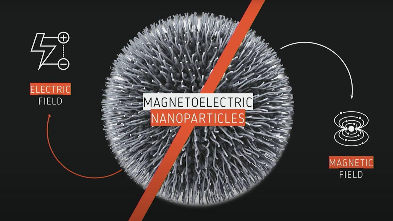 Visualización de un MENP, capaz de interactuar con señales eléctricas y campos magnéticos (Sakhrat Khizroev)