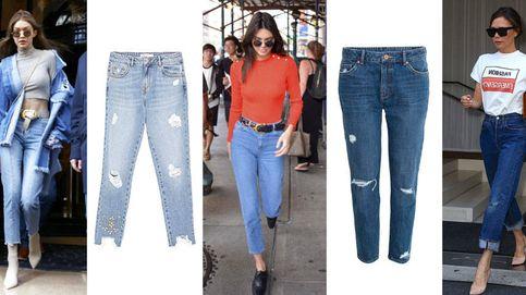 Gigi, Kendall y la Beckham te enseñan a a llevar los mom jeans de los 90