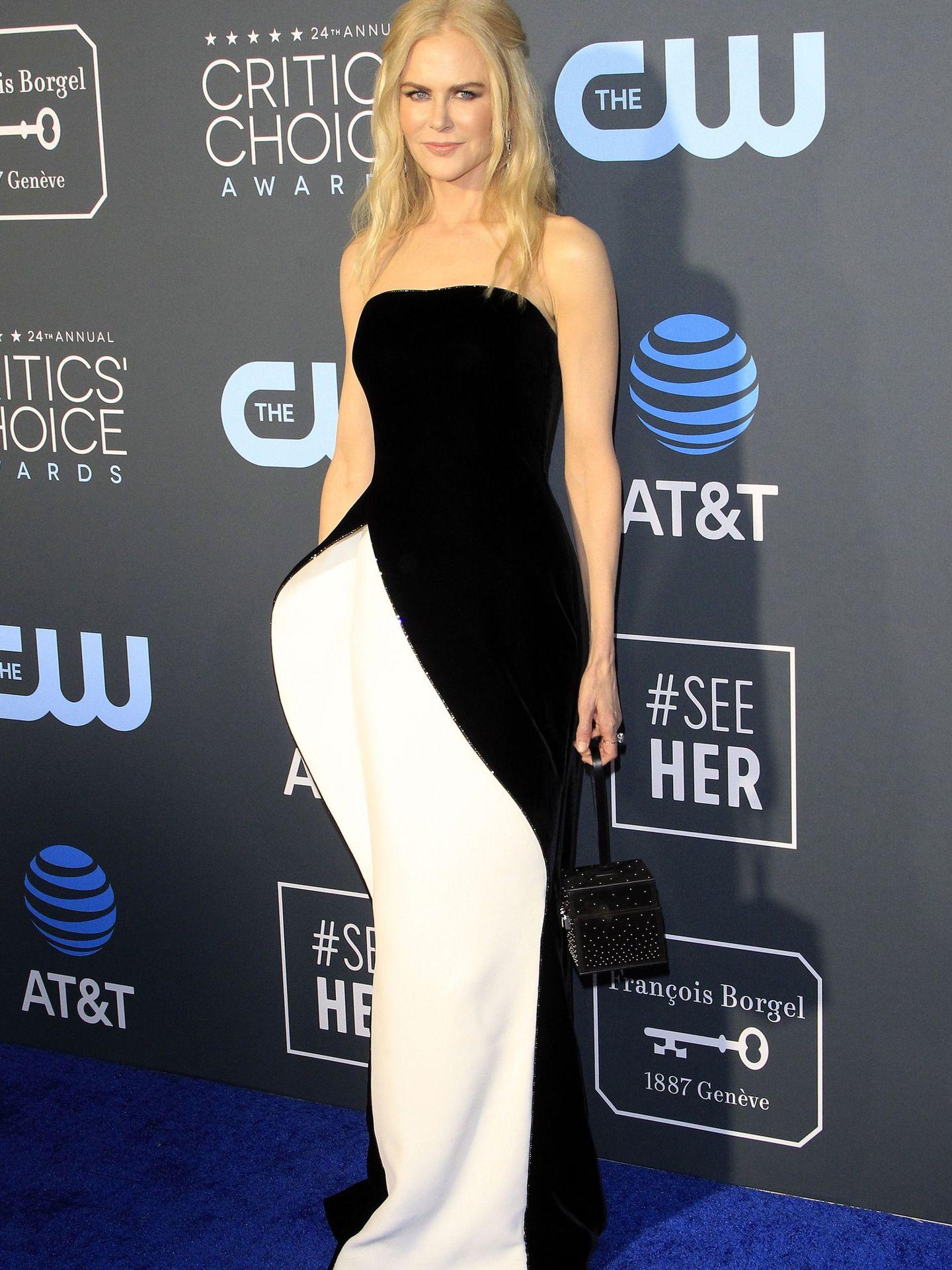 El outfit elegido por Nicole Kidman con vestido de Armani Privé. (Reuters)