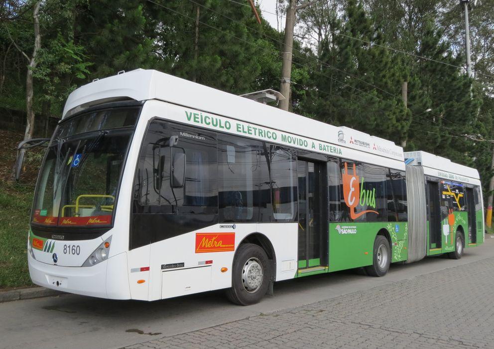 Foto: Imagen del autobús, funcionando ya en Sao Paulo (Brasil)