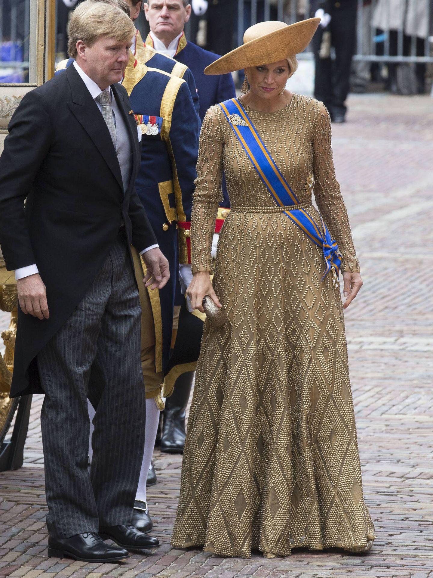 Los reyes de Holanda, en el Prinsjesdag 2013. (Getty)