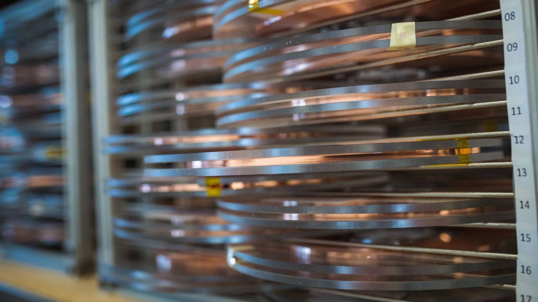 Las cintas de material superconductor que inspiraron este descubrimiento. (MIT-CFS)