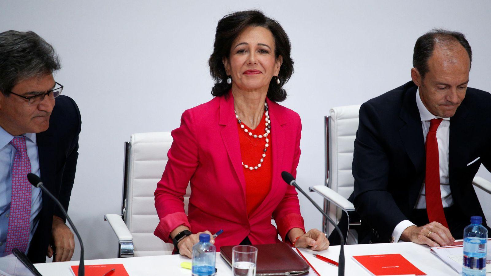 Foto: Ana Botín, durante la conferencia de ayer. (Reuters)