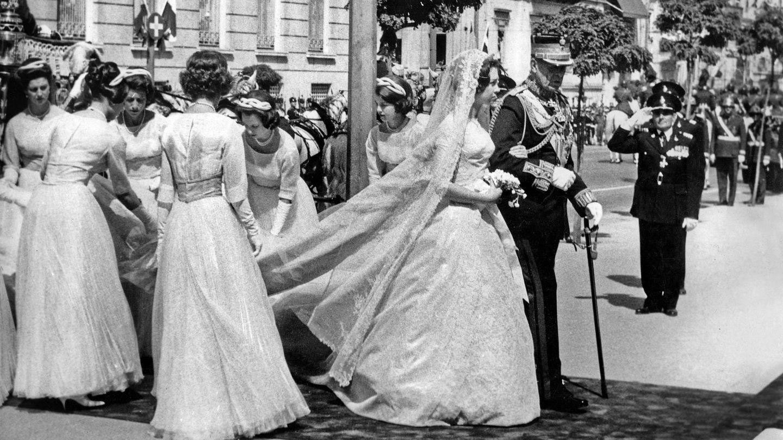 Sofía y Juan Carlos, el día de su boda en mayo de 1962, en Atenas. (CP)