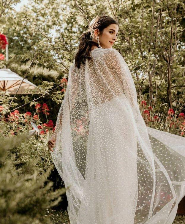 Foto: Sandra Gago se viste de novia para Jesús Peiró (Instagram)