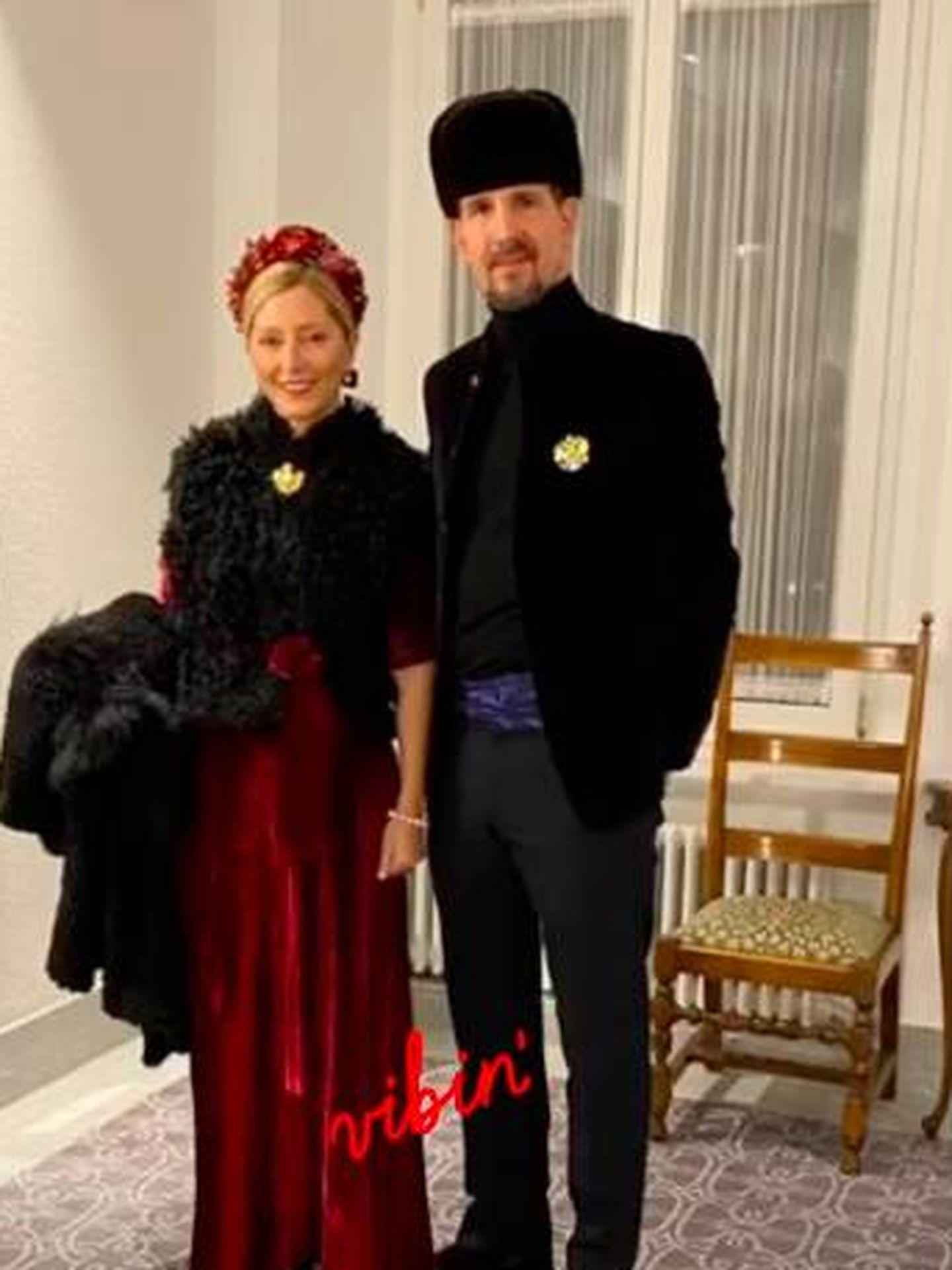 Marie-Chantal y Pablo de Grecia, en la boda de Dasha Zhukova y Stavros Niarchos III. (@mariechantal22)