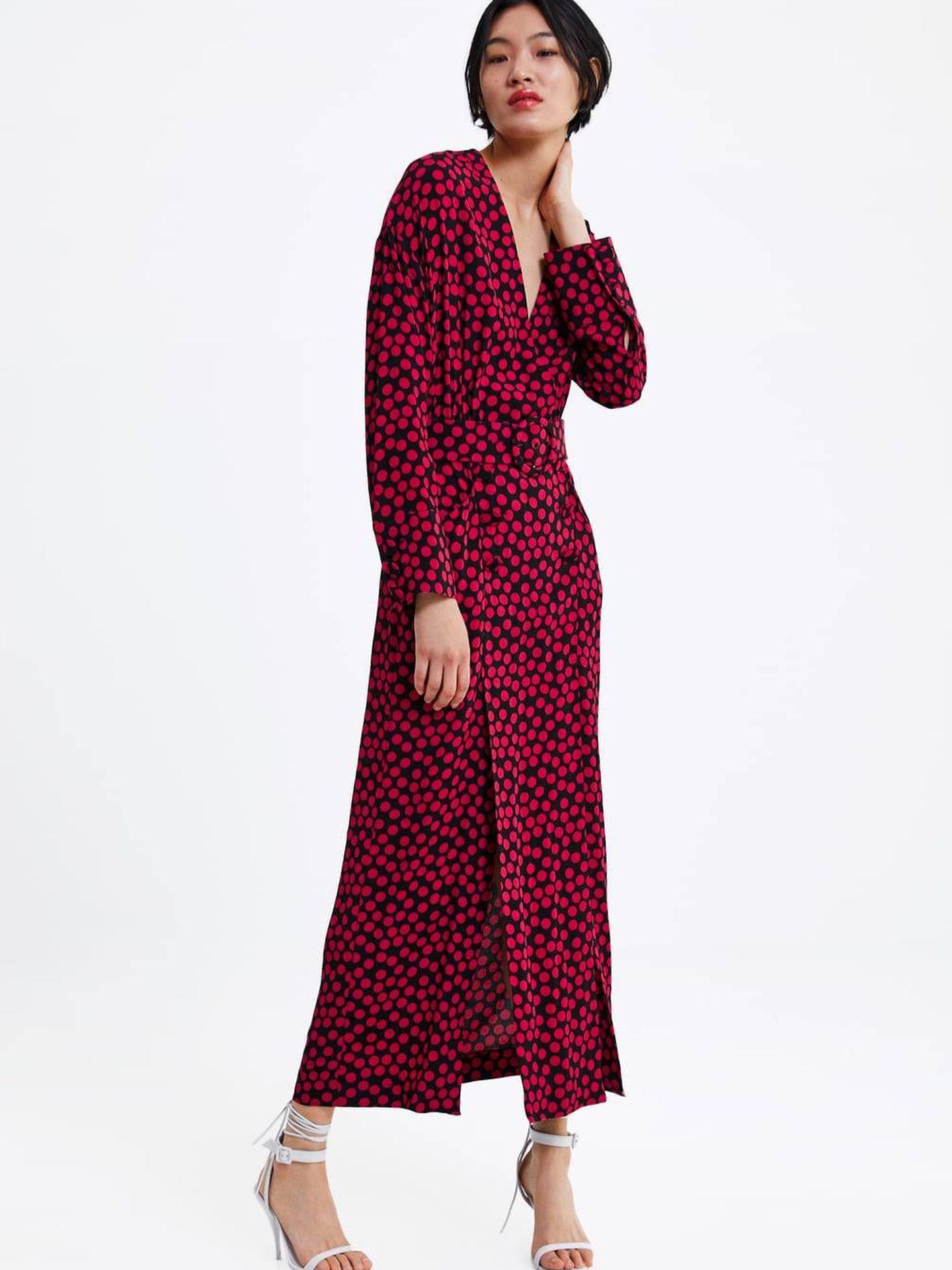 Vestido edición limitada de Zara.  (Cortesía)