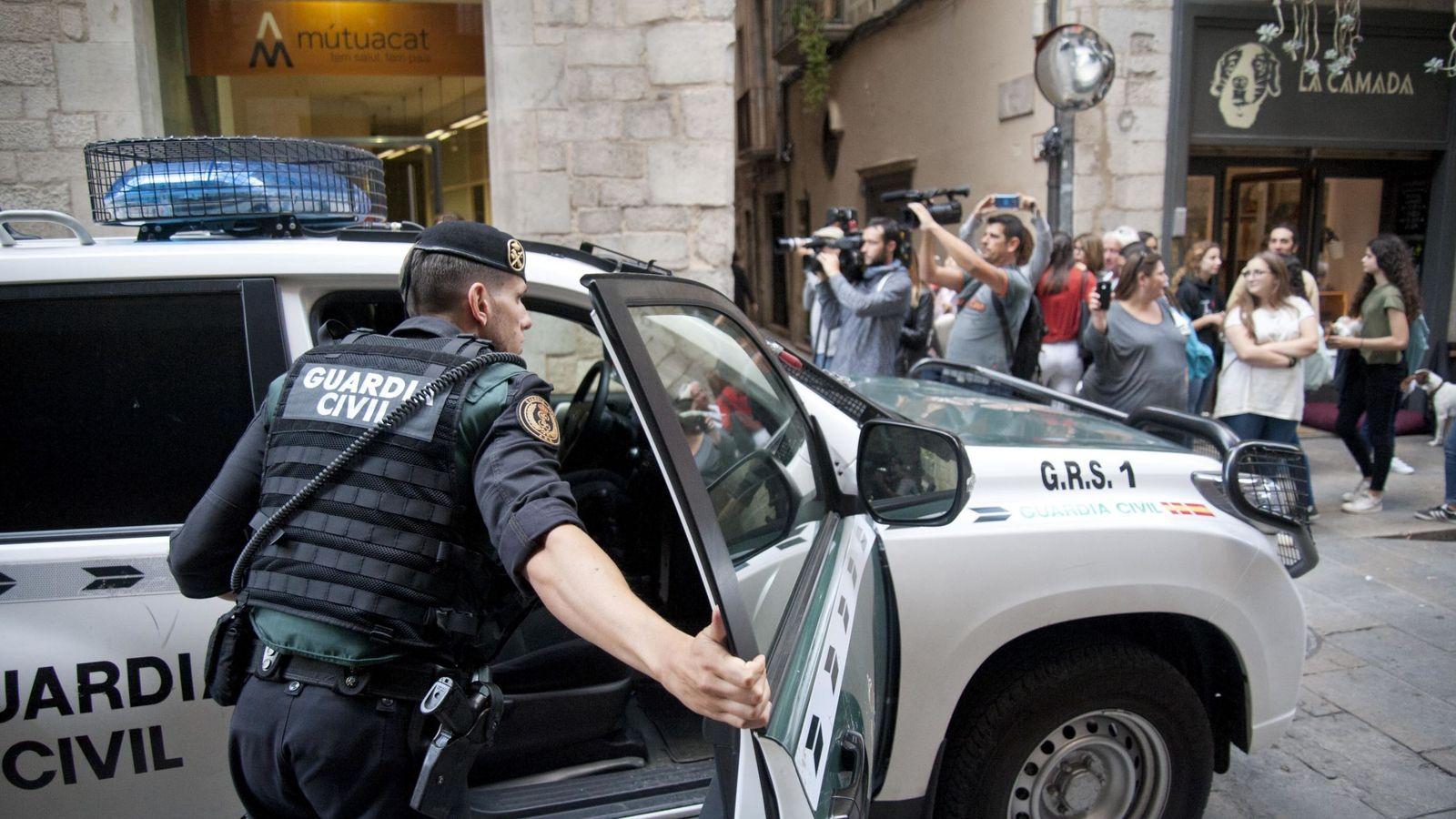 Foto: Operación de la Guardia Civil en Girona en 2017