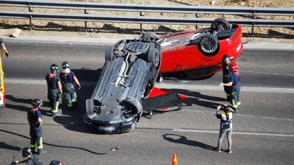 Foto: Accidente de tráfico en la A-2 en sentido Madrid. (EFE)