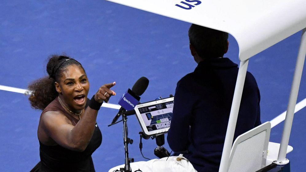 Foto: Serena Williams en plena tempestad. (Reuters)