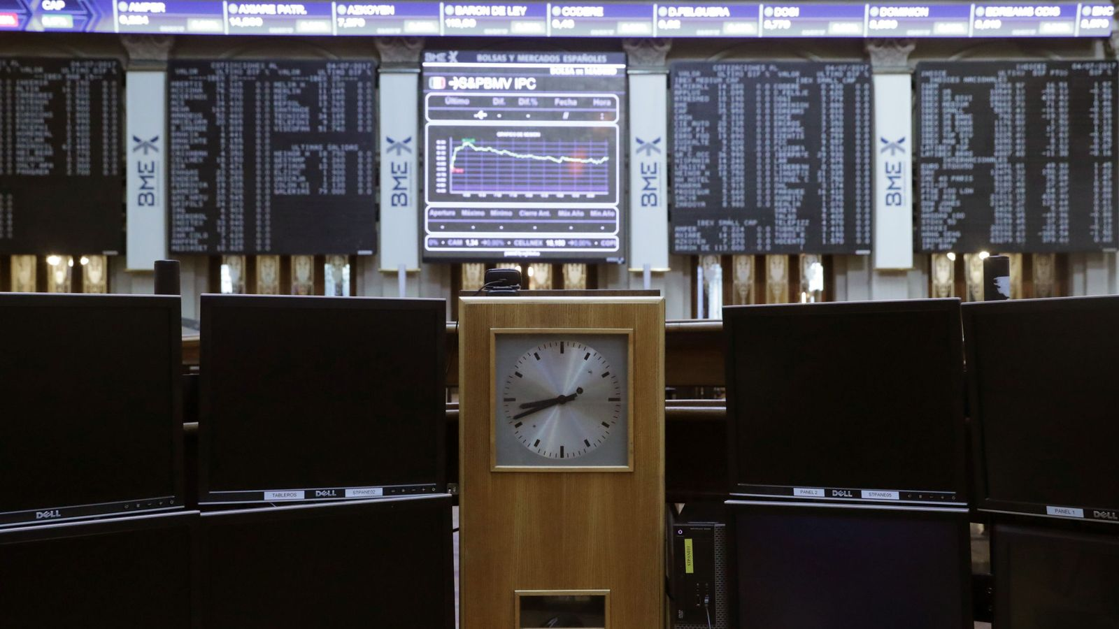 Foto: Parqué de la Bolsa de Madrid. (EFE)