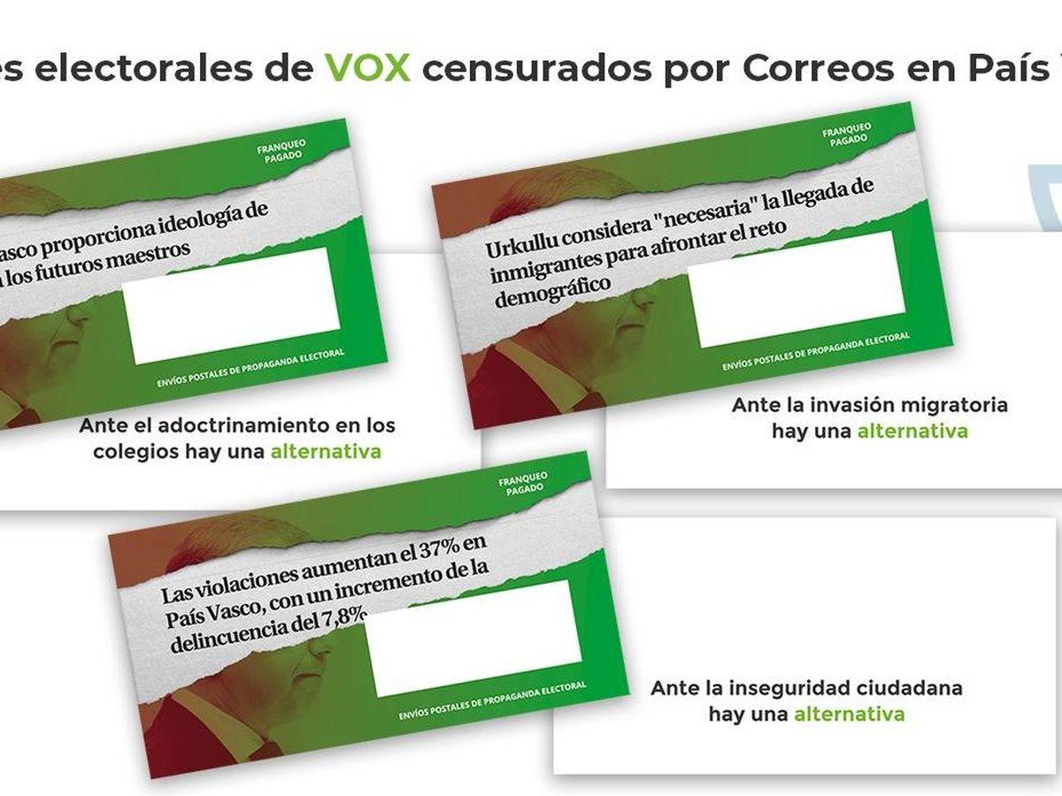 Foto: Sobres electorales de Vox. (Vox)